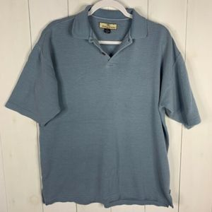 Tommy Bahama Blue Sz M Silk Blend Polo Shirt